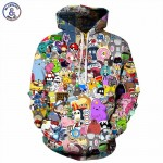 Mr.1991INC Anime Hoodies Men/Women 3d Sweatshirts With Hat Hoody Unisex Anime Cartoon Hooded Hoodeis Fashion Brand Hoodies