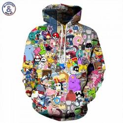Mr.1991INC Anime Hoodies Men/Women 3d Sweatshirts With Hat Hoody Unisex Anime Cartoon Hooded Hoodeis Fashion Brand Hoodies