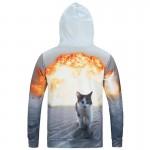 Mr.1991INC Autumn Winter Fashion Cap Hoodies Men Long Sleeve Pullovers Print  Sand Cat Casual Hoody 3d lovely Sweatshirt