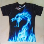 Mr.1991INC Cool T-shirt Men/Women 3d Tshirt Print Blue Fire Snake Short Sleeve Summer Tops Tees T shirt Fashion