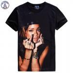 Mr.1991INC Famous Star Rihanna T shirt for men/women 3d tshirt short sleeve casual tops t-shirt Asia S-XXL 1862