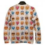Mr.1991INC Harajuku 3d sweatshirts Men/women's hoodies printed many  small face fashion thin 3d emoji sweatshirts