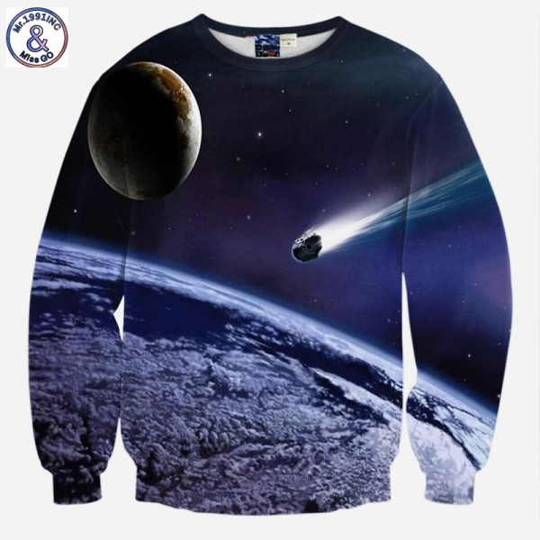 Mr.1991INC Men/Women Brand Hoodies Fashion Space/Galaxy Sweatshirt Male Print Comet Casual Hoodies Tracksuits Tops Clothes