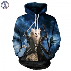 Mr.1991INC Meow Stars People Hot Sell 3d Sweatshirt Men/women Hooded Hoodies Print Cat Warrior Cap Sweatshirt Tracksuits
