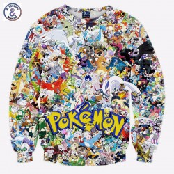 Mr.1991INC New Arrivals Men/boy 3d sweatshirt print Japanese Anime characters small animals long sleeve hoodies