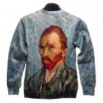 Mr.1991INC New fashion brand Women/men's 3d sweatshirts designer Oil printing Van Gogh Figure Funny 3D hoodies tops