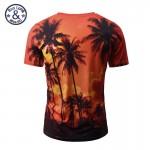 Mr.BaoLong 2017 New Summer Coconut Tree 3D Printed T Shirt Women/Men Harajuku Nightfall Hawaiian Tee Shirt Drop Shipping