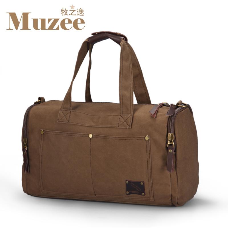 d185c41ef Muzee Travel Bag Large Capacity Men Hand Luggage Travel Duffle Bags Canvas  Weekend Bags Multifunctional Travel Bags