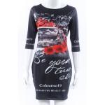 NEW Summer Dress 2016  Sexy Women Dress O-Neck Tight floral Print dress Fashion short Sleeve Bodycon dress knitting empire