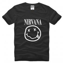 NIRVANA Smiley Face KURT COBAIN rock T Shirt Tshirt 2016 Mens Men Cotton T-shirt Camisetas Hombre