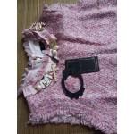 NIWIY Brand Dress Sweet Diamonds Bead Pink Dress Robe Hiver 2017 Autumn Tweed Woolen Women Dress vestidos Robe Femme Jurken 2698