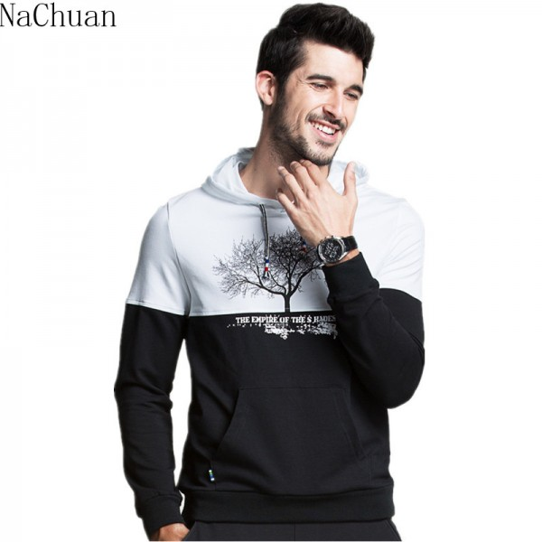 Nachuan Men Hoodies 2016 New Arrival Hoodies Men Fitness Suit Brand Sweatshirt Suit Size M-3XL