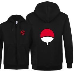 Naruto Sweatshirts New Anime Uchiha Cosplay Jacket Uzumaki Naruto Zipper Fleece Hoodies Sweatshirts Free Shipping Many Design