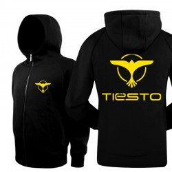 New 2016 Brand Winter  Jackets Coats Warm Zipper Casual Hip Hop Tiesto Rock Band Cool Mens Hoodies And Sweatshirts