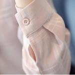 New 2016 Casual White Women Chiffon Blouse Autumn Ladies Plaid Elegant lacing Collar Bow Blouses Long Sleeve OL Office Shirt