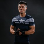 New 2017 Comic Superhero Compression Shirt Captain America Iron man Fit Tight G ym Bodybuilding T Shirt