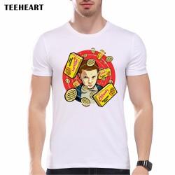 New 2017 Fashion Stranger Things Print T-shirts Original  Character Design Mens T Shirts Summer Hipster Tops Tshirt Homme pa596