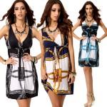 New 2017 summer dress V-neck sleeveless vestidos casual bohemian dresses floral print long women tunic  roupa femininas
