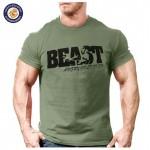 New Arrival Creative Art Design Beast t shirt for Men Summer short sleeve cool shirts 100% original brand breathable soft tops