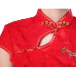 New Arrival Red Female Shirt tops Chinese Classic Style Ladies Summer Lace Blouse Size S M L XL XXL XXXL Feminina Camisa JY035