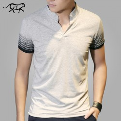 New Arrival t shirt Men Fashion Summer Men's T-shirt Cotton V Neck tshirt Male Tee Shirt Man Short Sleeve Tops Tees Homer 4XL