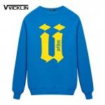 New Autumn Men's Unkut Fleece Hoodies Sweatshirt Hip Custom printing Camisa Sweatshirt Mens Full Sleeve Tops Plus size
