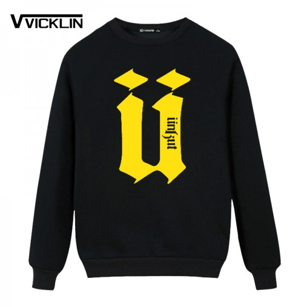 New Autumn Men's Unkut Fleece Hoodies Sweatshirt Hip Custom printing Camisa Sweatshirt Mens Full Sleeve Tops Plus size