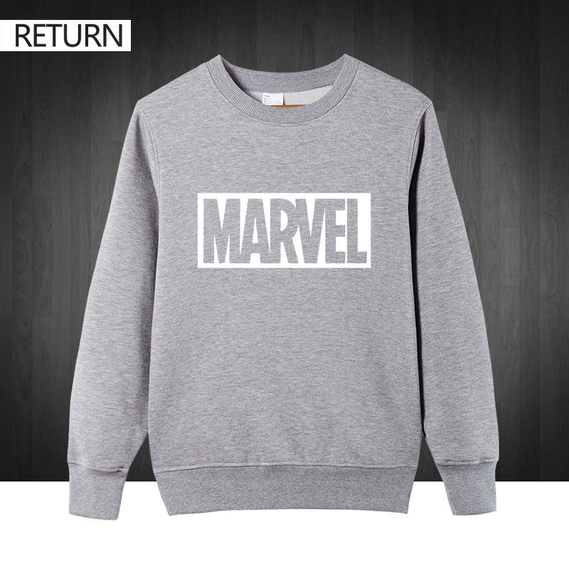 Revolutionary Tees Agents of Shield Sweatshirt super-h/éros /à capuche en coton m/élang/é S /à XXL