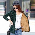 New Camisa Cuadros Mujer Casual Plaid Shirt Women Turn-down Collar Woman Shirts With Long Sleeve Thicken Blusas Y Camisas Mujer