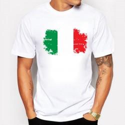 New European Cup Fashion Italy National Flag But Nostalgic Design men's T-shirts Cotton Short Sleeve Swag Men Clothing