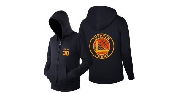 competitive price f420d 893da New Fashion 2016 Letter Print Men's Spring and Autumn Hoodies Stephen Curry  30 MVP fleece Printing Zipper Sweatshirts