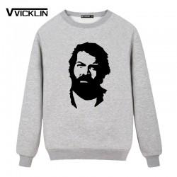 New Fashion BUD SPENCER  Fleece Hoodies Sweatshirt Full Sleeve Cotton Casual Man Funs Clothing Plus Size