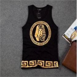 New Golden Akhnaton Pharaoh Printed Vest Hot Stamping O-neck Hip Hop Men's Tank Tops Men's Sleeveless Tanks Singlet