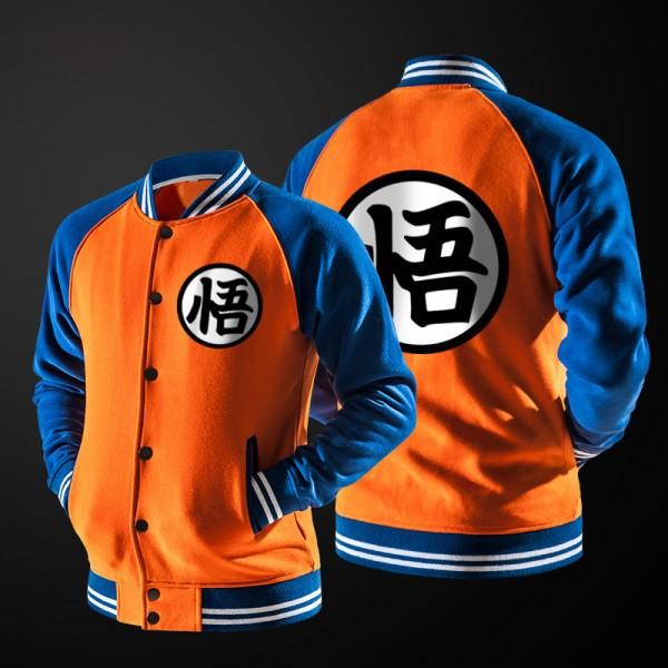 New Japanese Anime Dragon Ball Goku Varsity Jacket Fall casual Hoodie Jacket Coat Brand Baseball Jacket fleece long sleeve 2016