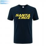 New Summer Dress Skateboard Skate Santa Cruz Printed T Shirt Men Shirts Camiseta Tee Clothing Men's Sportswear Large Size Dress