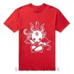 New Summer Style Satanic Goat Baphomet cartoon T Shirt Men cotton short sleeve Printed T-shirt Brand tshirt