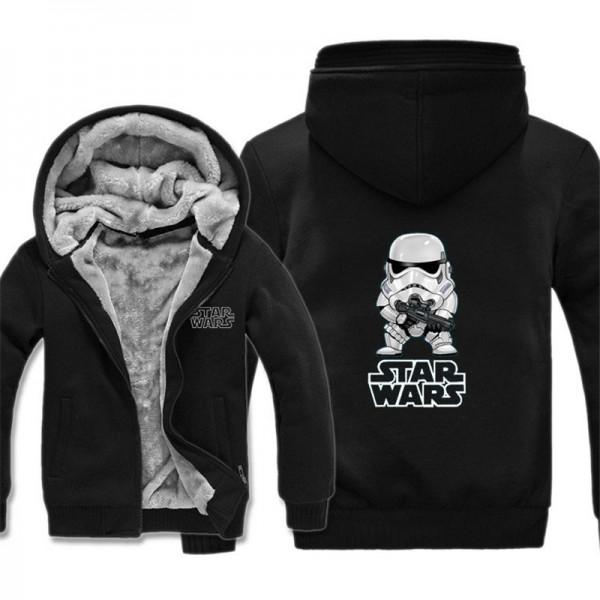 New Winter Jackets and Coats Film Star Wars Hoodie Darth vader Hooded Thick Zipper Wintwe Warm Fleece Men Sweatshirts Free Ship