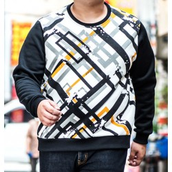 New arrivals from loose sweatshirts plus size men Hoodies printing round neck long - sleeved man, 2016 autumn big yards jacket