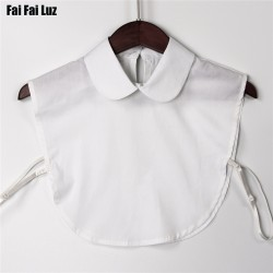 New autumn white bib detachable collars women blouse false collar apparel accessories peter pan women pointed collar