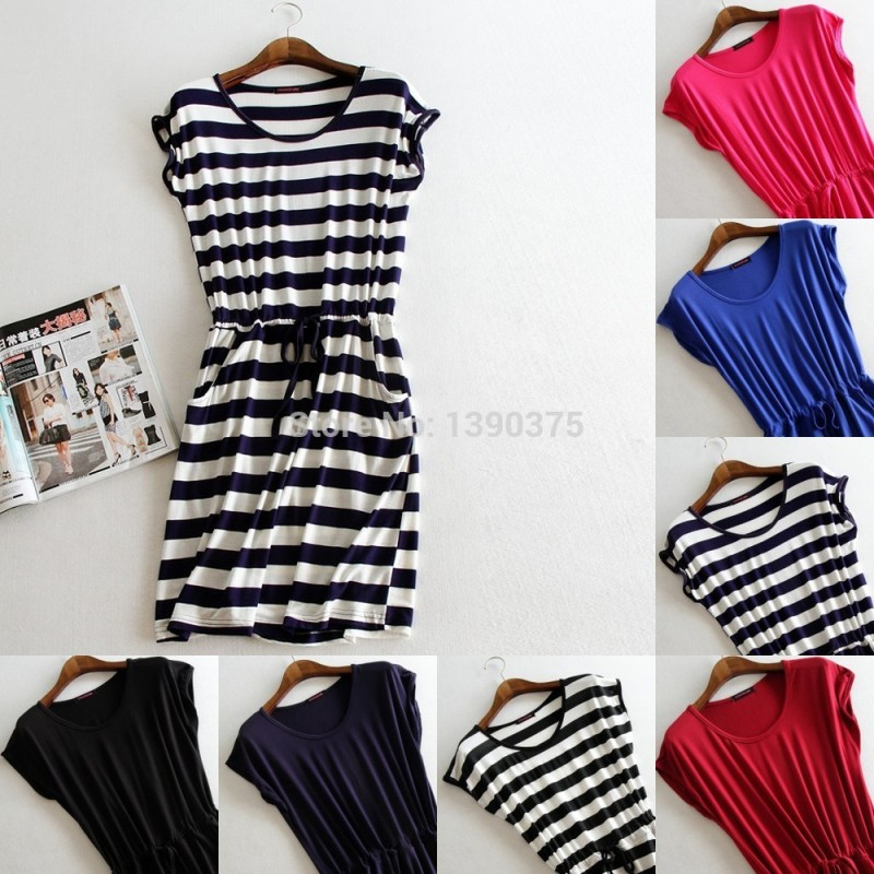 3c846aff1f31 New style summer dress Casual Stripe women summer dress tank sleeveless  dresses casual solid color cheap ...