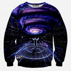 Newest galaxy space printed creative hoodies 3d men's Sweatshirts Autumn novelty 3D psychedelic hoody clothes
