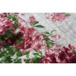 O-neck Half sleeve Flower print Linen Women Dress Loose Causal Floral Summer Midi Dress Vintage Cute Linen Brand Dresses A069