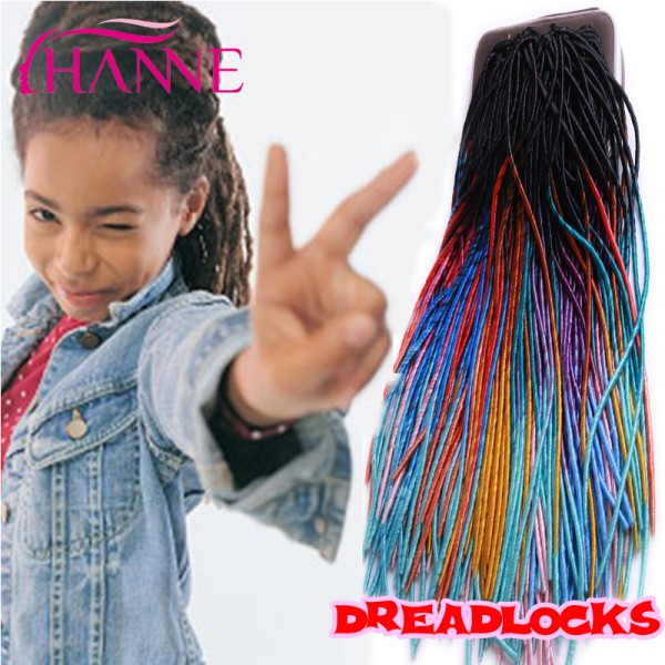 Ombre 20 Crochet Braid Hair Synthetic Dread Lock Extensions 20