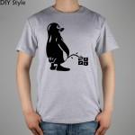 PENGUIN LINUX UBUNTU OZF T-shirt Top Lycra Cotton Men T shirt New Design High Quality Digital Inkjet Printing