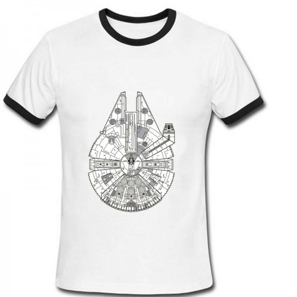 PH Design Millennium Falcon Men T Shirts 2016 Fashion Star Wars T-shirts Man Modal Short Sleeve Summer Clothing Tshirts Tees