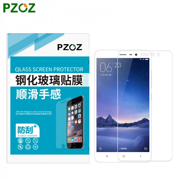 PZOZ Tempered Glass For Xiaomi Redmi Note 3 Pro 2.5D Screen Protector Transparent Film Xiomi