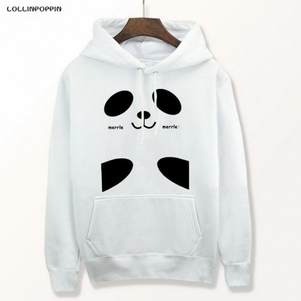 Panda Hoodies Men & Women Unisex Hooded Fleece Pullovers New 2017 Cute Kawaii Hoodie Free Shipping