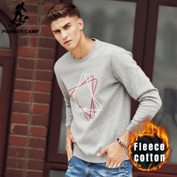 Pioneer Camp 2016 New Arrival male fleece Hoodies Men Geometric Decoration men Pullover Casual   Sweatshirt 622093