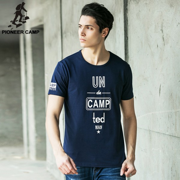 Pioneer Camp 2017 Summer Style Printed Brand Tshirt Cotton Fitness T Shirt Men Camiseta O-Neck  Clothing Plus Size 3Xl 622054