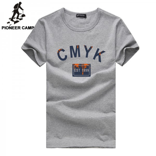 Pioneer Camp 2017 new fashion mens t shirt casual cotton men clothes short sleeve summer style t-shirt print shirt